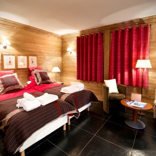 Vieille Forge bedroom, catered ski chalet in Courchevel 1850