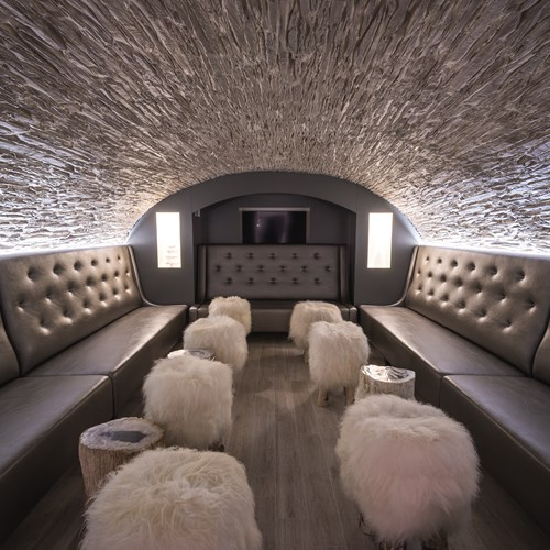 lounge cave area at Hotel Le White Champery
