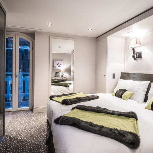 Bedroom in Hotel Le White Champery