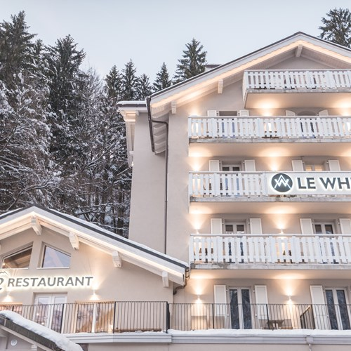 front of Hotel Le White Champery