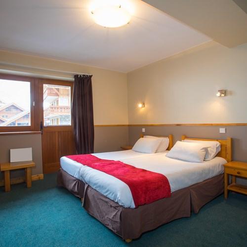 twin room at Chalet Hotel Les Grangettes in Meribel