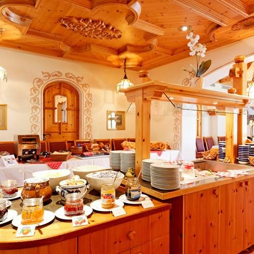 breakfast buffet at Hotel Derby in Grindelwald