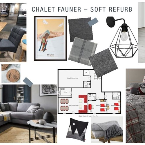Chalet Fauner refurb mood board 2019