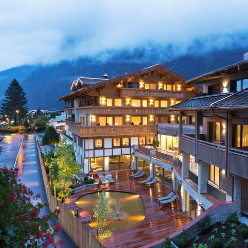 Elisabeth Hotel, luxury ski accommodation in Mayrhofen, Austria. Exterior