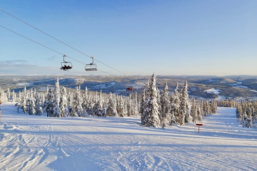Trysil sunshine and blue skies slopes