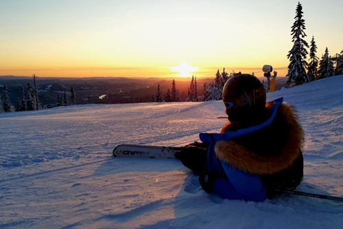 Trysil sunrise skiing
