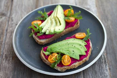 vegan food avocado on toast sustainable eating
