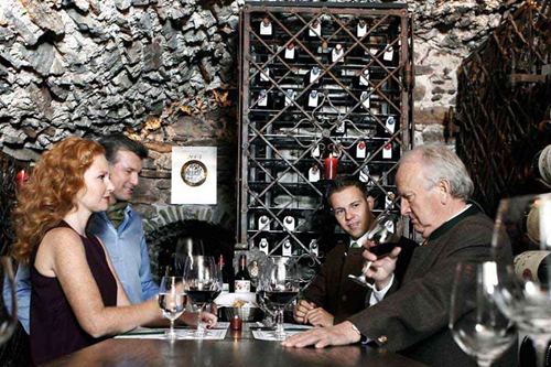 hospiz alm wine tasting