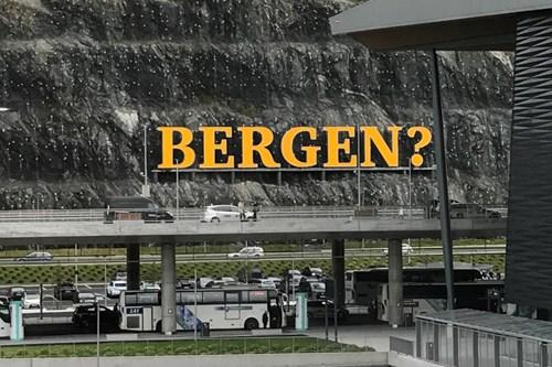 bergen airport sign