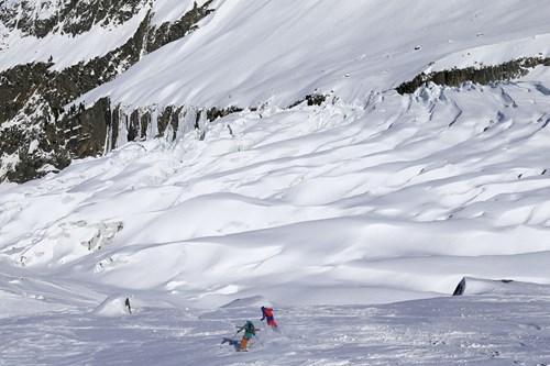 les grands montets ski area off piste