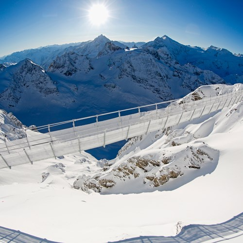 engelberg ski resort suspension bridge