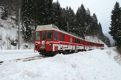 Engelberg ski train, switzerland