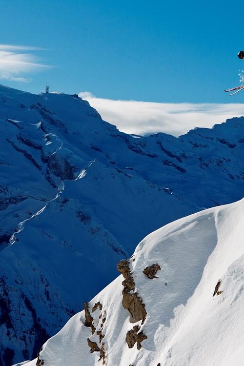 Engelberg-Switzerland-jumping-off-piste-cliff-drop
