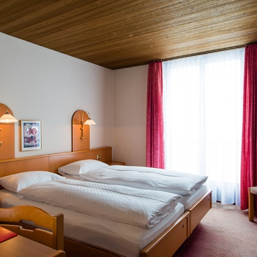 guest room at Hotel Terrace, ski accommodation in Engelberg, Switzerland
