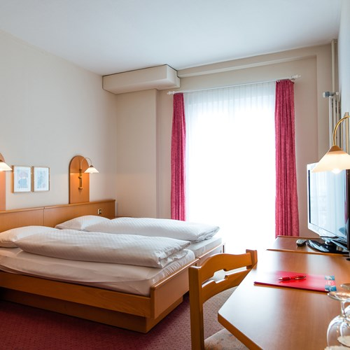 double room at the Hotel Terrace in Engelberg, Switzerland