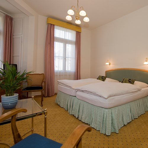 Standard room in the north wing of Hotel Bellevue Terminus Engelberg