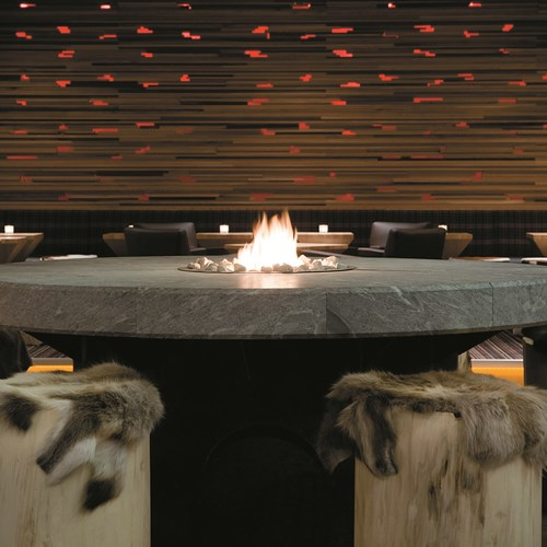 Radisson Blu Trysil indoor fire pit