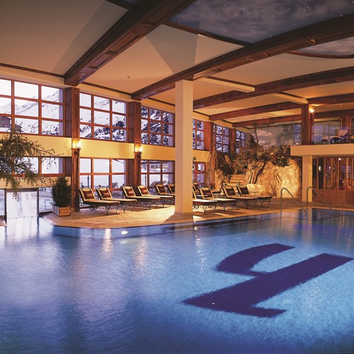 Indoor pool at Hotel Hochfirst in Obergurgl, Austria. Ski accommodation.