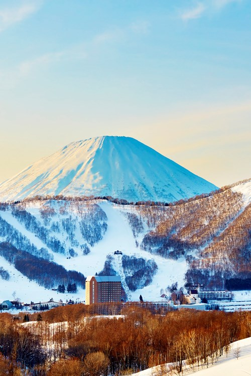 Westin ski hotel, Rusutsu ski resort - Japan - hotel exterior during day