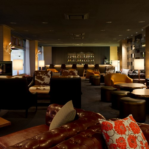Greenleaf ski hotel - Niseko - Japan - tomiokawhite lounge bar