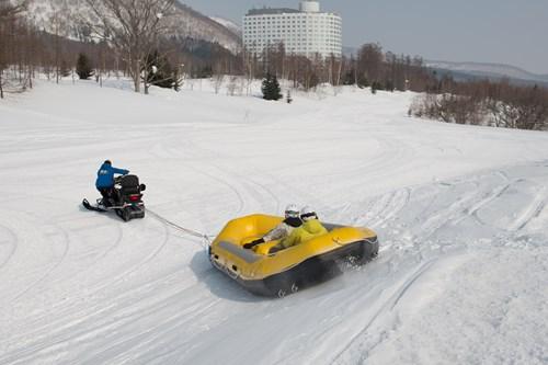 snow rafting in japan
