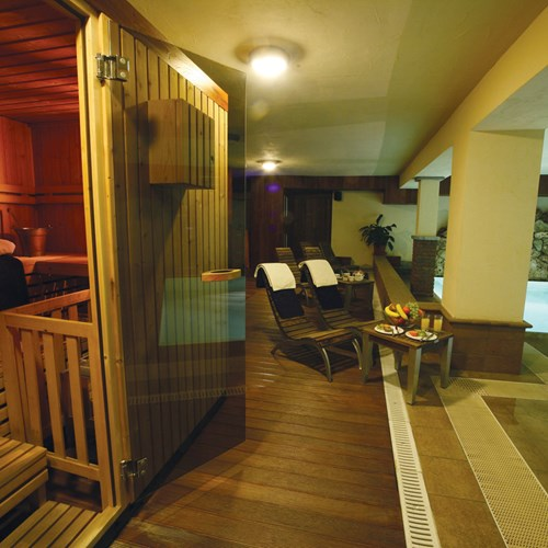 Hotel Maison Saint Jean Courmayeur sauna and pool area
