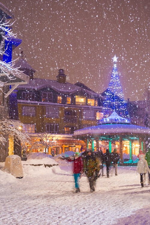 Whistler, Canada - Snowy Town by Mike Crane