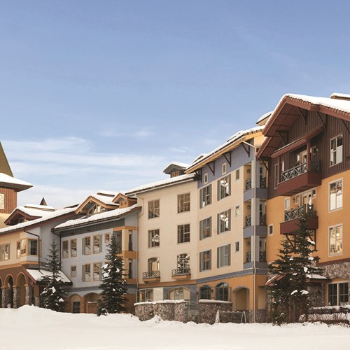Snowy exterior at Coast Sundance Ski Lodge, Sun Peaks in Canada