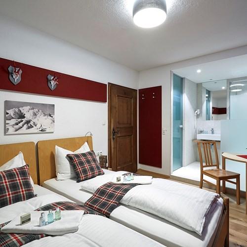 Double room at Chalet Amalien Haus, ski accommodation in St Anton, Austria