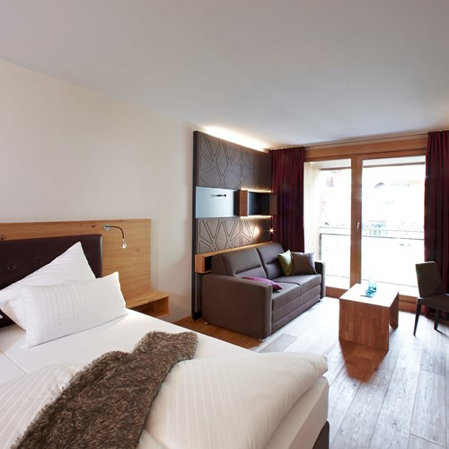 Double room in Anthony's Hotel, ski accommodation in St Anton, Austria