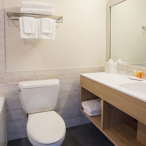 Crystal Lodge, ski accommodation in Whistler. En suite in hotel room