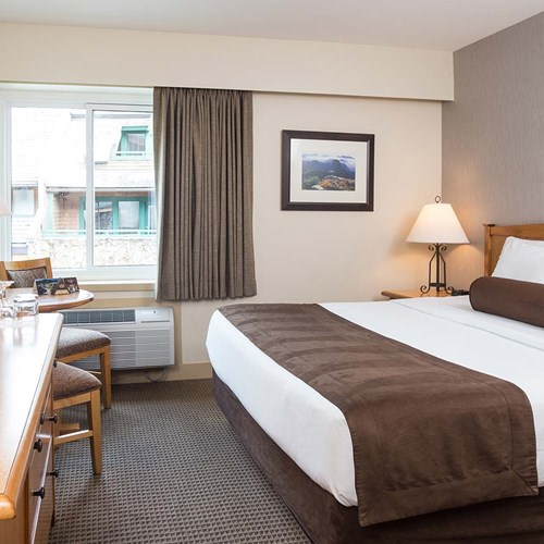Crystal Lodge, ski accommodation in Whistler. King double room