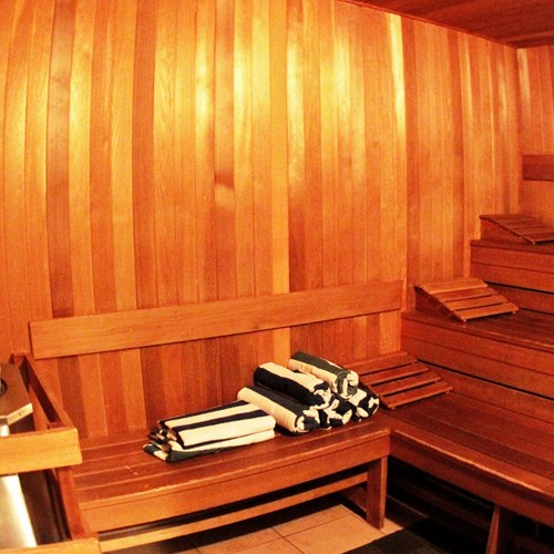 Crystal Lodge, ski accommodation in Whistler. Sauna in the hotel