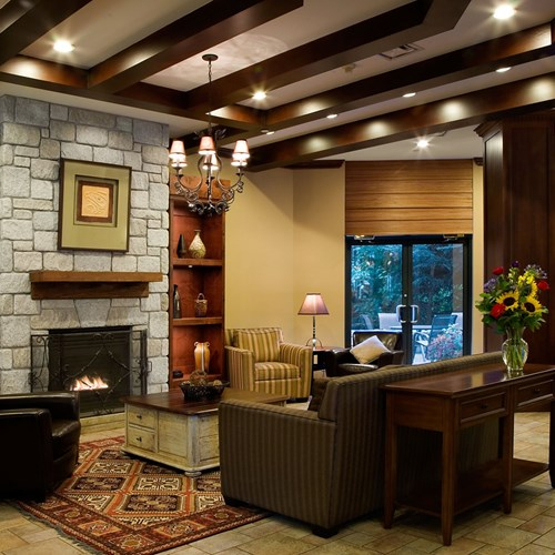 Delta Whistler Village Suites, ski accommodation in Canada, lounge & lobby