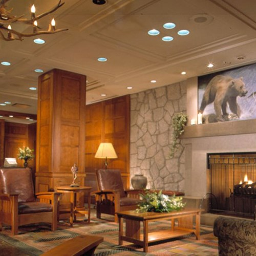 Pan Pacific Whistler Mountainside, ski accommodation, Canada - lobby