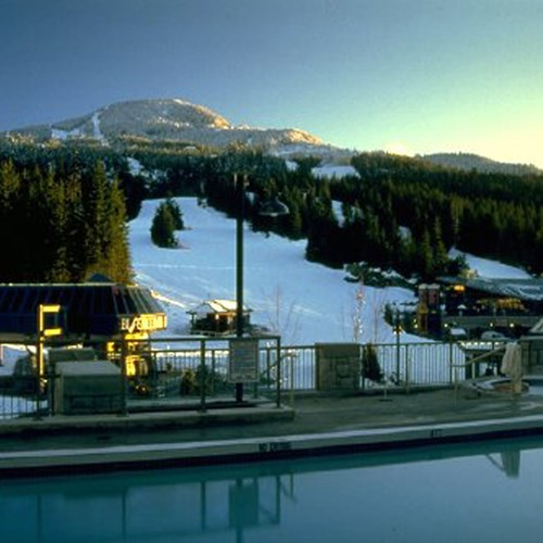 Pan Pacific Whistler Mountainside, ski accommodation, Canada - outdoor pool