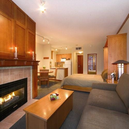 Pan Pacific Whistler Mountainside, ski accommodation, Canada - studio room