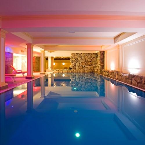 Sporthotel, ski accommodation in St Anton, Austria. Indoor pool