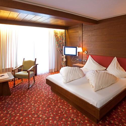 Sporthotel, ski accommodation in St Anton, Austria. Double room
