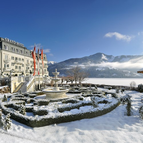 Grand Hotel , ski accommodation in Zell-am-See, Austria - Snowy exterior
