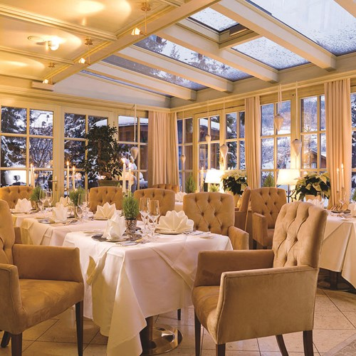 Hotel Tirolerhof, ski accomodation, Zell am See, Austria - dining room