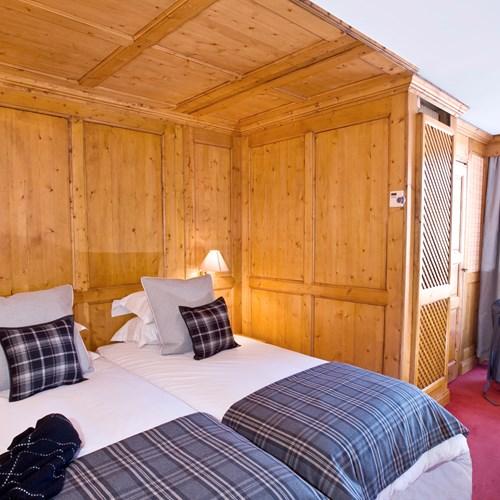 Standard room at Hotel Royal Rochebrune Megeve, ski hotel France
