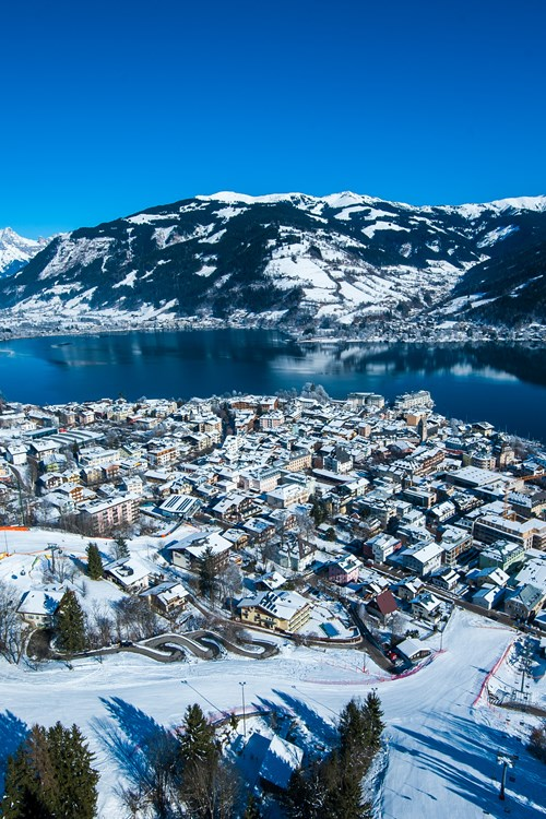 Zell am See ski weekends view of lake and town