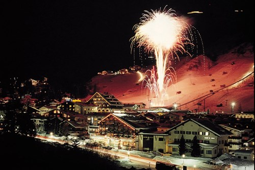 St Anton fireworks new years eve