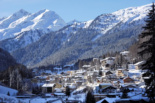 st anton am arlberg mountain view of village