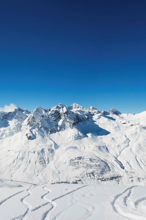 St Anton Austria - Ski Route