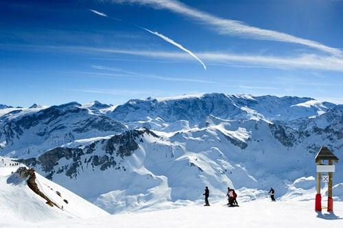 Meribel ski weekends Three Valleys mountain view panorama
