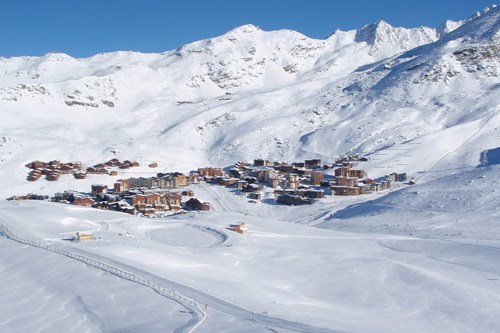 val thorens view of town from mountain