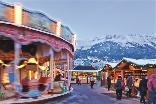 innsbruck, a day trip for non-skiers from st anton, merry-go-round