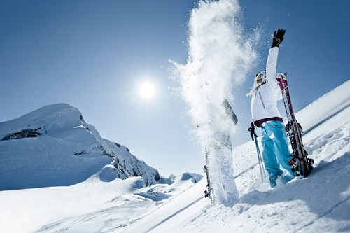 best ski resorts in austria-throwing snow